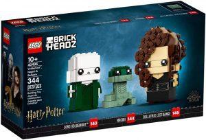 LEGO BrickHeadz de Voldemort Nagini y Bellatrix de Harry Potter - Los mejores juguetes de construcción de LEGO BrickHeadz