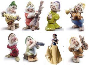 Set de figuras de porcelana de Lladró de Blancanieves y los 7 enanitos - Las mejores figuras de porcelana de Lladró de Disney