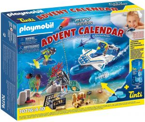Set de playmobil de Calendario de Adviento 70776 Misión Policial de Buceo - Los mejores calendarios de Adviento de playmobil