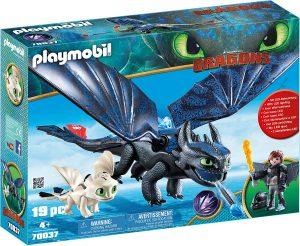 Set de playmobil de Como entrenar a tu dragón 70037 Hipo y Desdentao con Bebé Dragón - Los mejores sets de playmobil de Como entrenar a tu dragón
