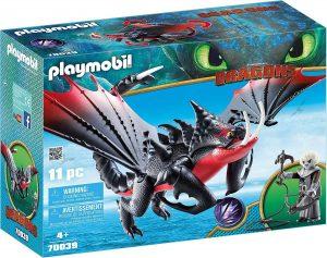 Set de playmobil de Como entrenar a tu dragón 70039 Aguijón Venenoso y Crimmel - Los mejores sets de playmobil de Como entrenar a tu dragón
