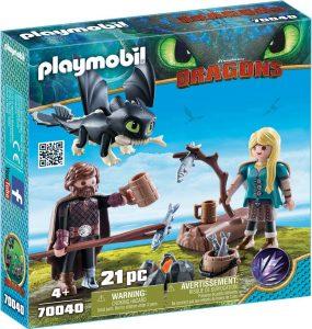 Set de playmobil de Como entrenar a tu dragón 70040 Hipo y Astrid con Bebé Dragón - Los mejores sets de playmobil de Como entrenar a tu dragón