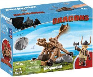 Set de playmobil de Como entrenar a tu dragón 9245 Gobber con Catapulta - Los mejores sets de playmobil de Como entrenar a tu dragón