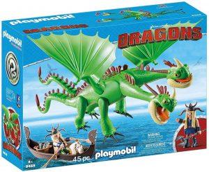 Set de playmobil de Como entrenar a tu dragón 9458 Dragón 2 Cabezas con Chusco y Brusca - Los mejores sets de playmobil de Como entrenar a tu dragón