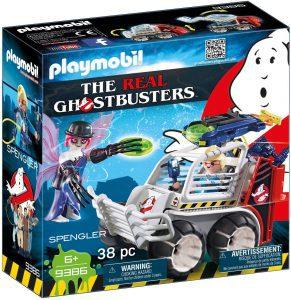 Set de playmobil de Spengler con Coche Jaula 9386 de los Cazafantasmas - Los mejores sets de playmobil de los Cazafantasmas - Ghostbusters