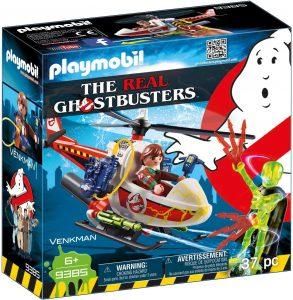Set de playmobil de Venkman con Helicóptero 9385 de los Cazafantasmas - Los mejores sets de playmobil de los Cazafantasmas - Ghostbusters
