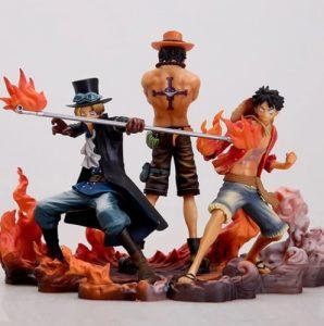 Figura de Luffy y Sabo y Ace de One Piece de Aliexpress 2 - Las mejores figuras de One Piece de Aliexpress
