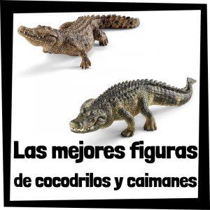 Figuras de cocodrilos y caimanes